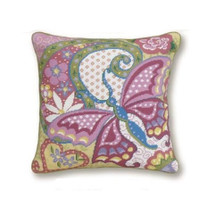 Butterfly Needlepoint Pillow