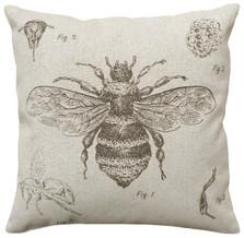 Bee Study Linen Pillow