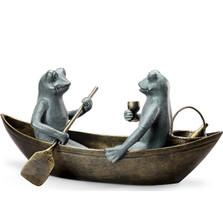 "Frog Garden Sculpture ""Rowboat Picnic"" | 34279"