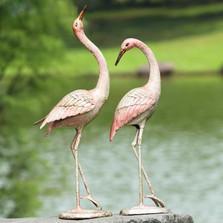"Crane Sculpture ""Flamboyant Pair""   50900"