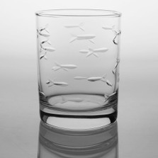 Fish Double Old Fashioned Drink Glass Set of 4