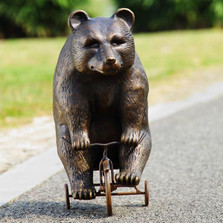 Bear Riding Trike Sculpture | 33638