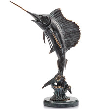 Sailfish Tail Walker Sculpture | 30817