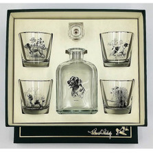"Dog Decanter Set ""Sporting Dogs"""