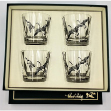"""Duck Optic Double Old Fashioned Glass Set """"Third Federal Duck Stamp"""""""