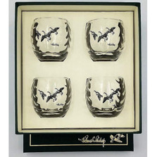 """Duck Optic Cocktail Glass Set """"Third Federal Duck Stamp"""""""