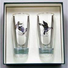 """Duck Beer Glass Set """"Waterfowl"""""""