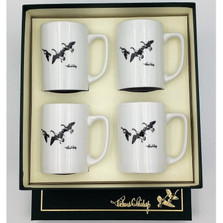 "Duck Porcelain Coffee Mug Set ""Third Federal Duck Stamp"""