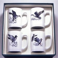 "Duck Porcelain Coffee Mug Set ""Waterfowl"""