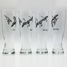 """Duck Pilsner Glass Set """"Third Federal Duck Stamp"""""""
