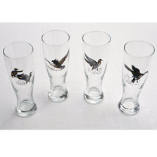 "Duck Pilsner Glass Set ""Waterfowl"""