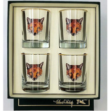 """Fox Double Old Fashioned Glass Set """"Fox Mask"""""""