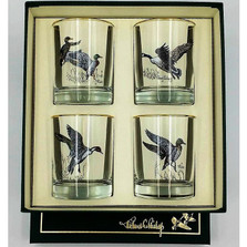 """Duck Double Old Fashioned Glass Set """"Waterfowl"""""""