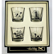 """Dog Cocktail Glass Set """"Sporting Dogs"""""""