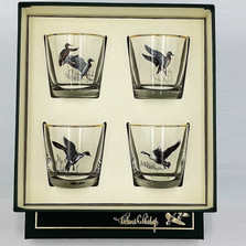 """Duck Cocktail Glass Set """"Waterfowl"""""""