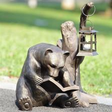 Book Loving Bear Garden Lantern   33779