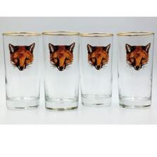 "Fox Iced Tea Glass Set ""Fox Mask"""