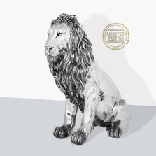 Lion Silver Plated Heirloom Sculpture   7514