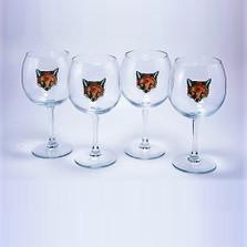"Fox Wine Glass Set ""Fox Mask"""