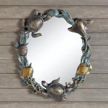 Turtle Sea Life Wall Mirror | 34624 | SPI Home