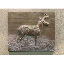 """Pronghorn Bas Relief Ltd Edition Wall Art """"Prince of the Prairie"""""""
