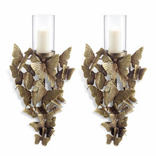 Butterfly Wall Sconce Set of 2   34660