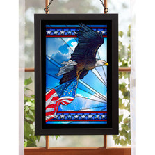 """Bald Eagle Stained Glass Art """"Our Glory"""""""