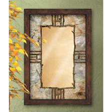 Hardwood Forest Decorative Mirror