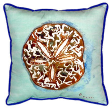 Sand Dollar Teal Indoor Outdoor Pillow 22x22