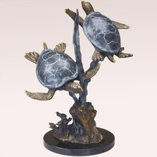 Turtle Duet Sculpture   31541