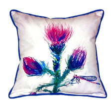 Dragonfly Thistle Indoor Outdoor Pillow 22x22
