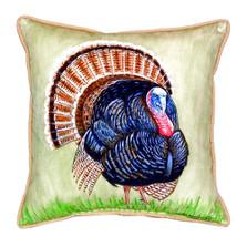 Wild Turkey Indoor Outdoor Pillow 22x22
