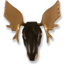 Moose Brass and Bronze Door Knocker