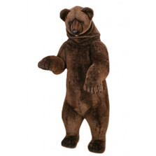 Grizzly Bear Life-Sized Standing Stuffed Animal