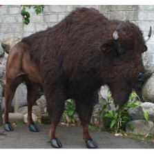 Buffalo Life-Sized Stuffed Animal