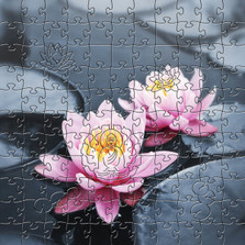 Lotus Blossom Wooden Jigsaw Puzzle