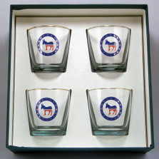Democrat Donkey Cocktail Glass Set