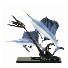 Sailfish Going After Ballyhoo Sculpture | 31653
