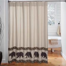 Bear Wyatt Shower Curtain | VHC Brands | 34327
