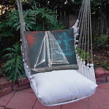 Sailboat Hammock Chair Swing Navy