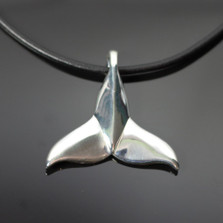 Dolphin Tail Sterling Silver Pendant Necklace | Nature Jewelry