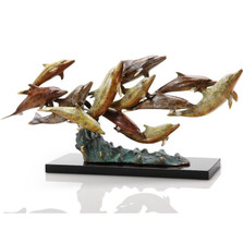 Dolphin Sculpture Dozen Swimming | 80266
