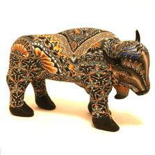Buffalo Mama Figurine New