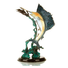 Ballyhoo For Sail - Sailfish Sculpture | 31996