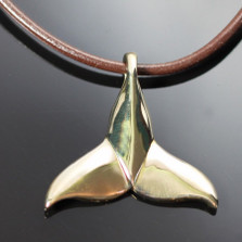Dolphin Tail Bronze Pendant Necklace | Nature Jewelry
