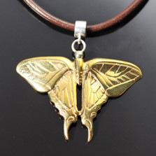 Butterfly Bronze Pendant Necklace | Nature Jewelry