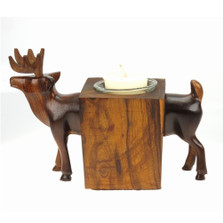 Deer Ironwood Candle Holder