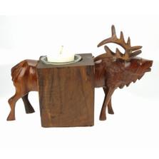 Elk Ironwood Candle Holder