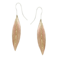 Ash Leaf Wire Earrings | Nature Jewelry