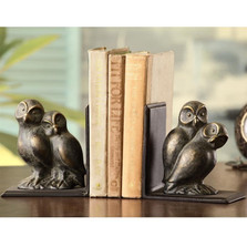 "Owl Pair Bookends ""Loving Owls"" 